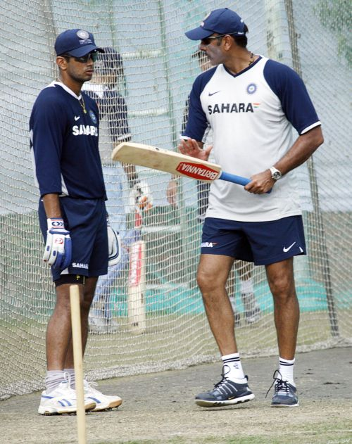 Ravi Shastri and Rahul Dravid in this file photo
