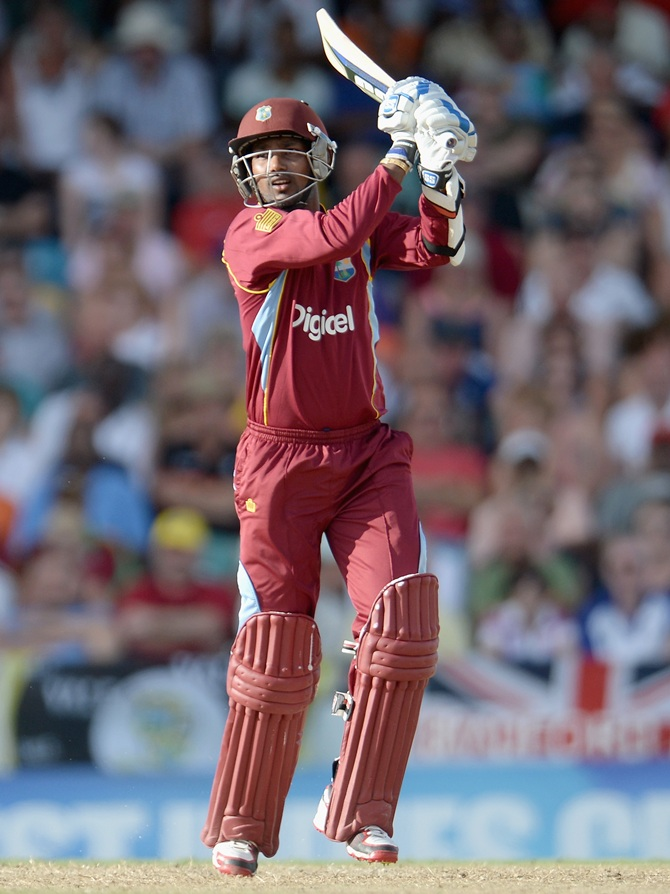 Denesh Ramdin of the West Indies bats