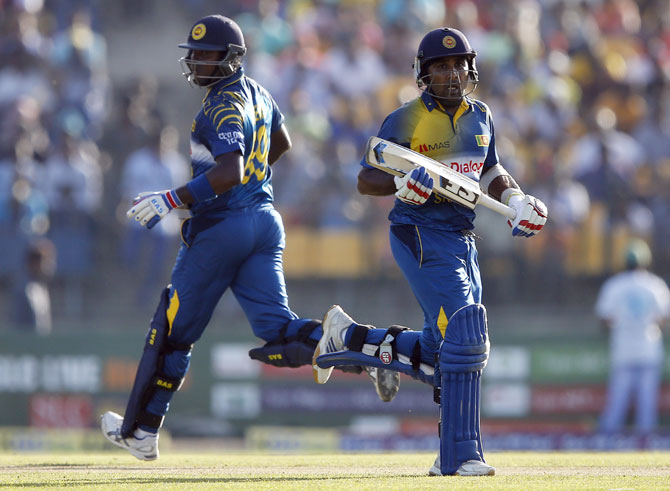 Rediff Cricket - Indian cricket - Hambantota ODI: Mathews, Perera star as Sri Lanka square series