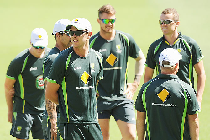 Rediff Cricket - Indian cricket - Record favours Australia as teams head to Gabba for second Test