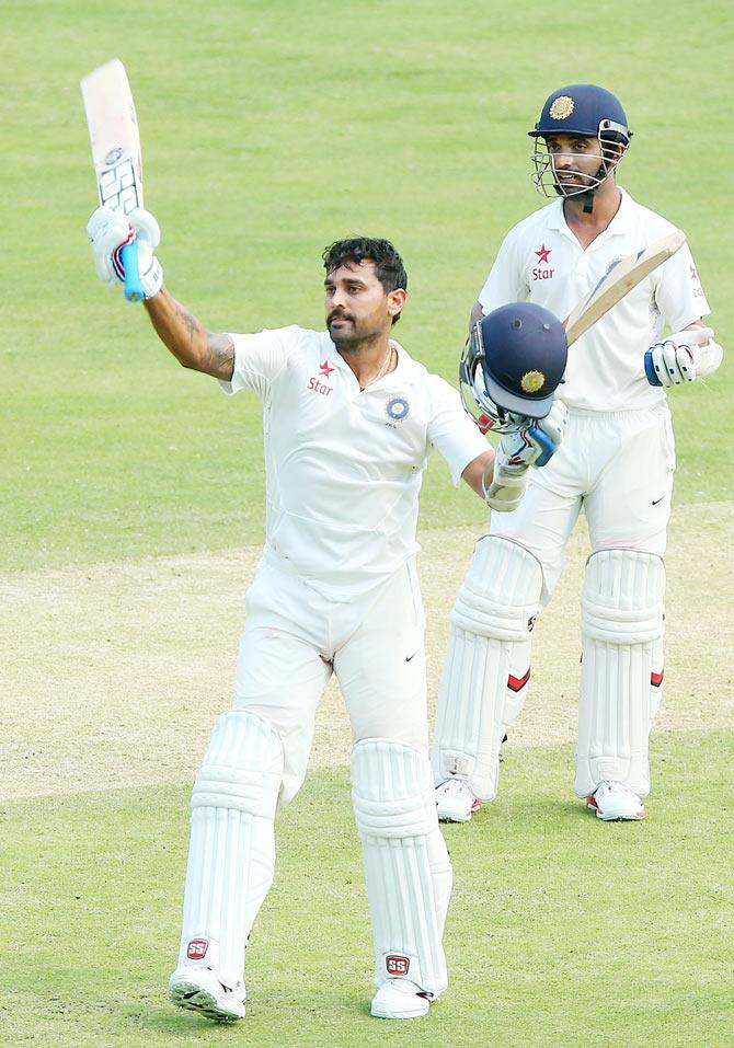 Rediff Cricket - Indian cricket - PHOTOS, Day 1: Vijay's century caps India's dominance at Gabba