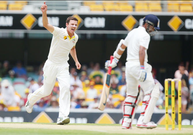 Rediff Cricket - Indian cricket - Hazlewood confident about Test future after fifer on debut