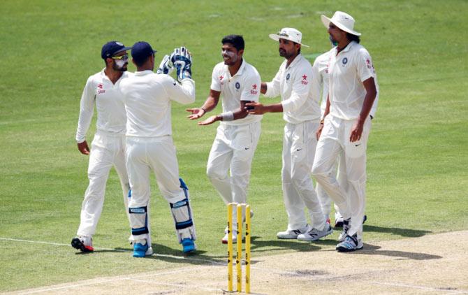 Rediff Cricket - Indian cricket - Hazlewood takes five before Yadav's strikes lift India