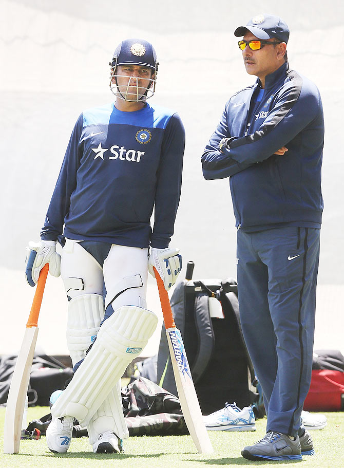 Rediff Sports - Cricket, Indian hockey, Tennis, Football, Chess, Golf - Shastri is Team India's interim coach for Bangladesh tour