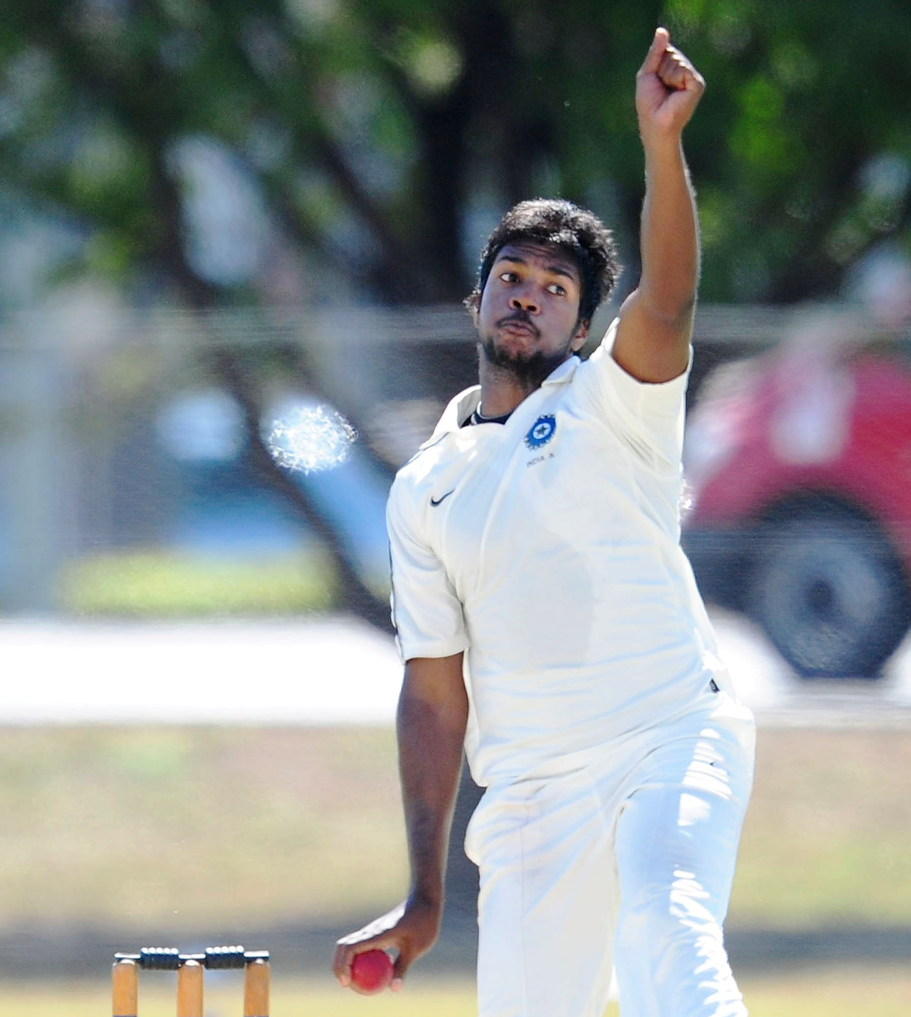 Varun Aaron in the longer format of the game.