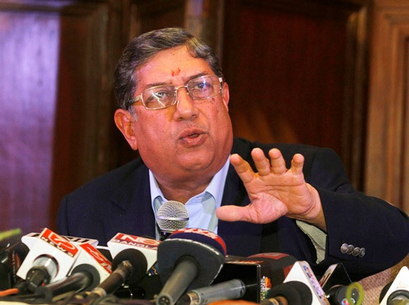 BCCI boss N Srinivasan.