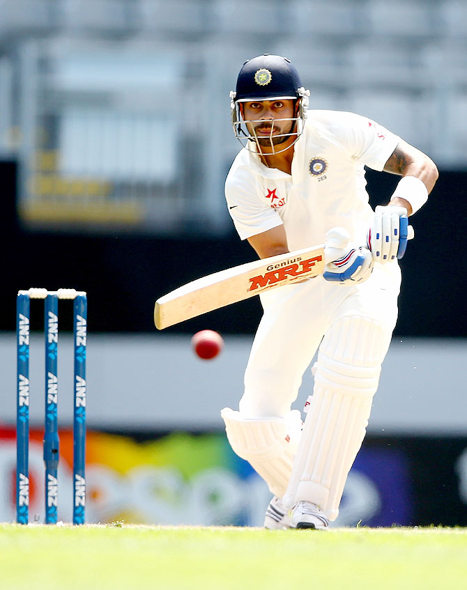 Virat Kohli of India bats