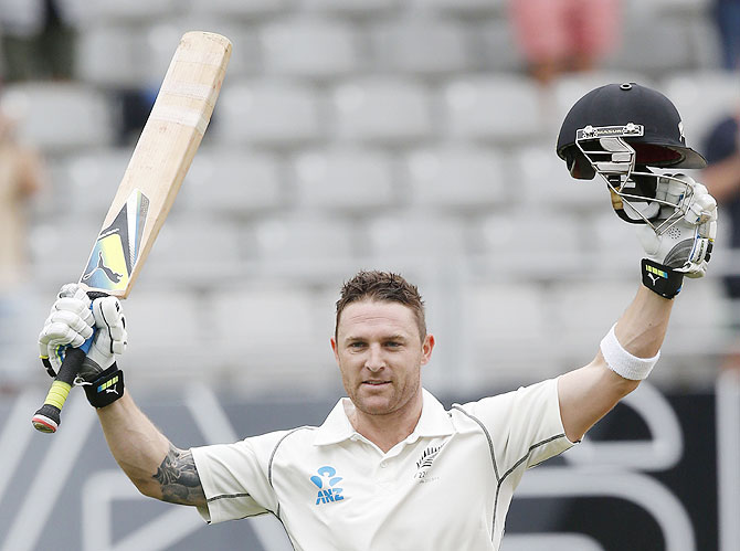 New Zealand's Brendon McCullum