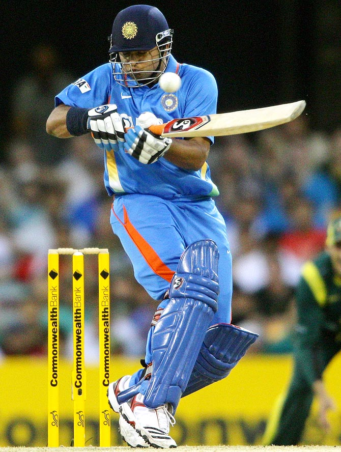 Suresh Raina is susceptible against the short ball