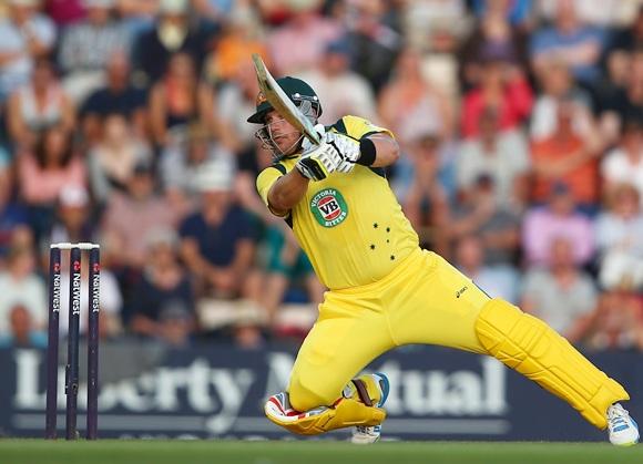 Record-breaking Aussie batsman Aaron Finch.