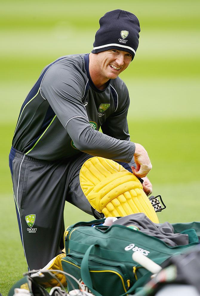 Australia's attacking batsman George Bailey.