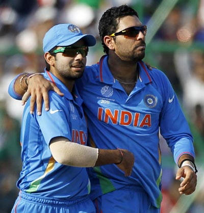 Yuvraj looking forward to playing with Gayle, Kohli at RCB