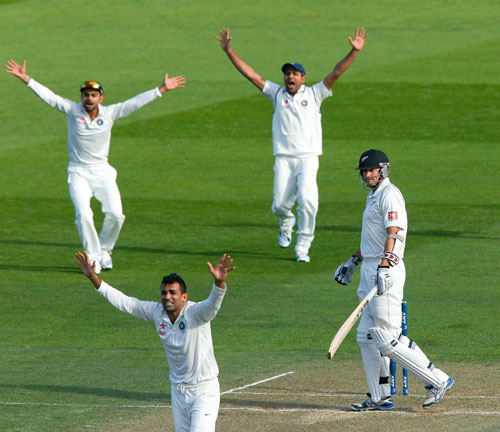 Indian players appeal successfully to dismiss Peter Fulton of New Zealand
