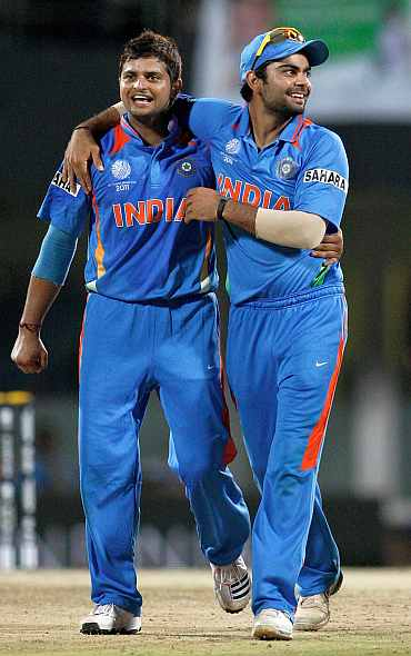 Virat Kohli and Suresh Raina.