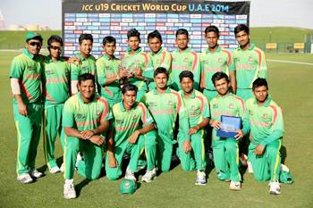 The Bangladesh Under-19 team after finishing fourth