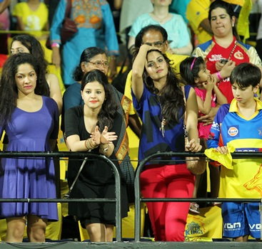 A section of the crowd during the final of IPL-6