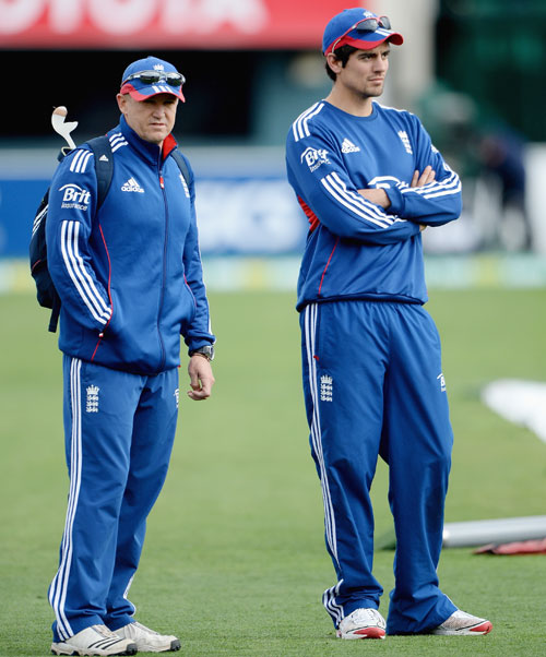 England captain Alastair Cook and coach Andy Flower