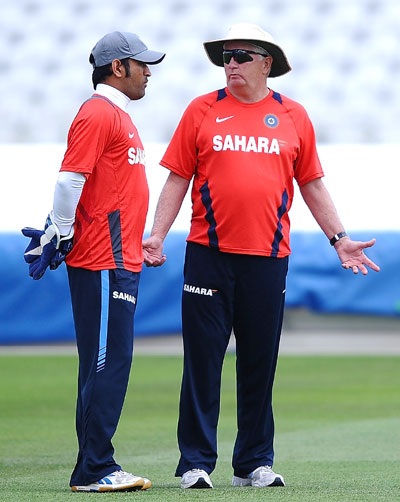 MS Dhoni and Duncan Fletcher