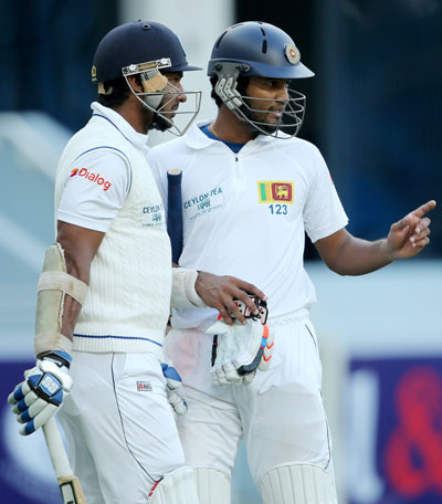 Kumar Sangakkara and Dimuth Karunaratne