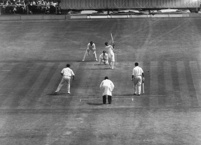 Wicket-keeper Farokh Engineer, India's first swashbuckling batsman.