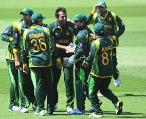 The Pakistan team