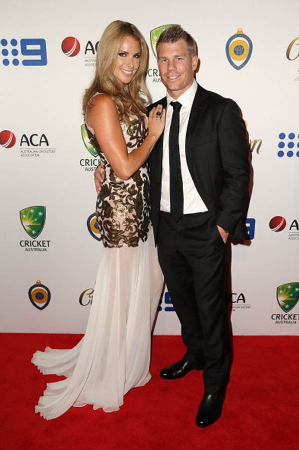 David Warner and girlfriend Candice Falzon