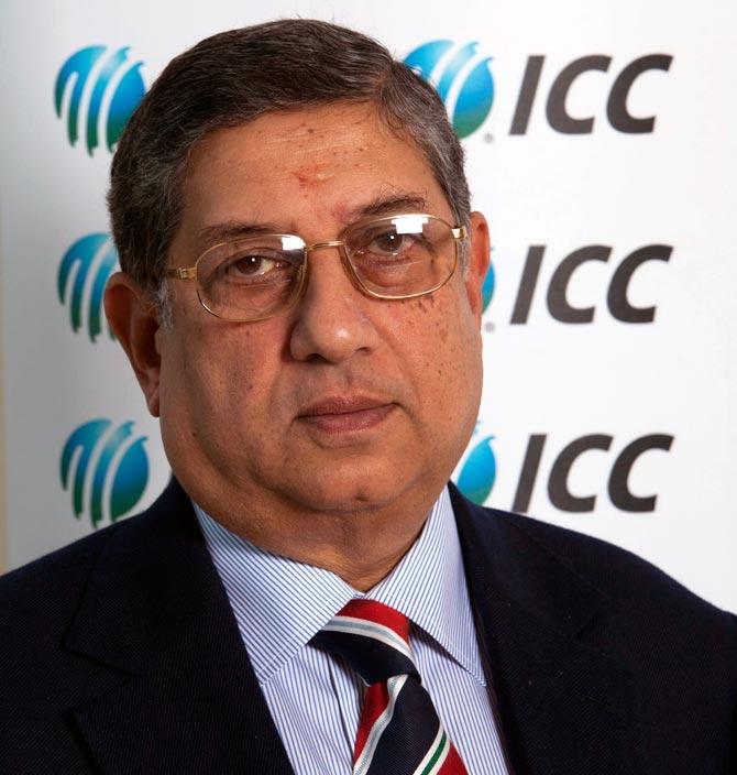 BCCI President N Srinivasan.