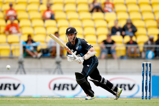 Kane Williamson of New Zealand bats