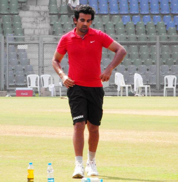 Zaheer Khan in training
