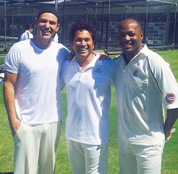 (Left to right): Shane Warne, Sachin Tendulkar and Brian Lara