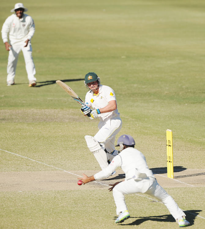 Peter Forrest of Australia 'A' bats during the Quadrangular Series match against India 'A'