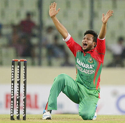 Bangladeshi cricketer Shakib Al Hasan