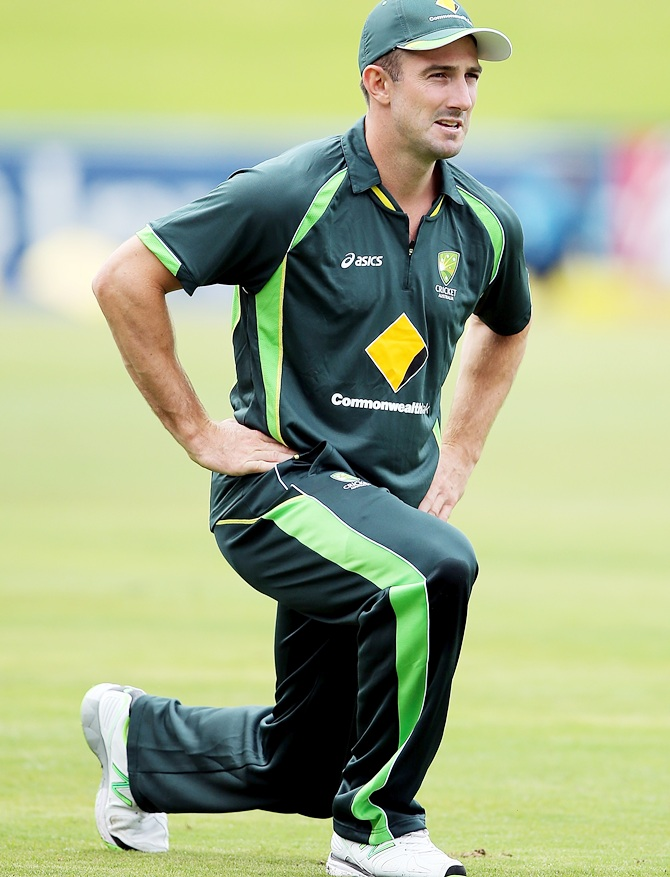 Shaun Marsh of Australia stretches