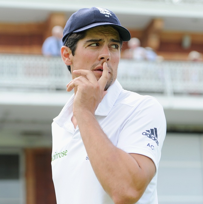England captain Alastair Cook after losing the 2nd Investec Test match between England and India at Lord's Cricket Ground