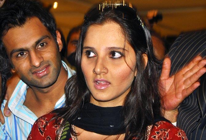 Sania Mirza with her husband Shoaib Malik