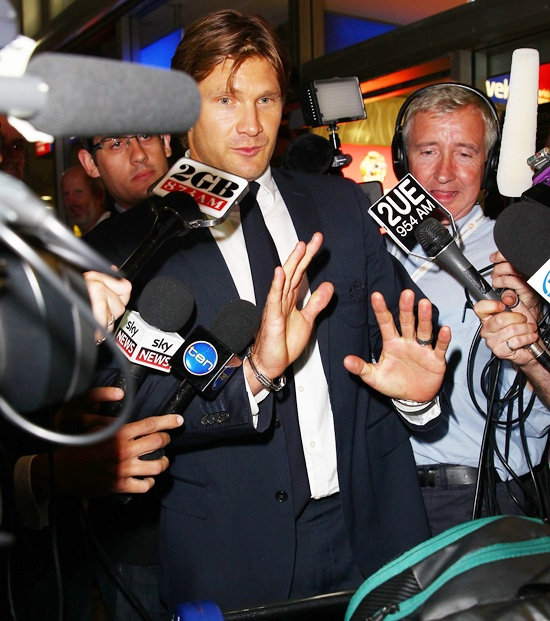 Shane Watson at Sydney International Airport