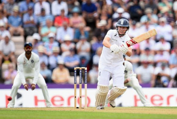 Gary Ballance of England in action during Day 1 of the 3rd Investec Test match between England and India