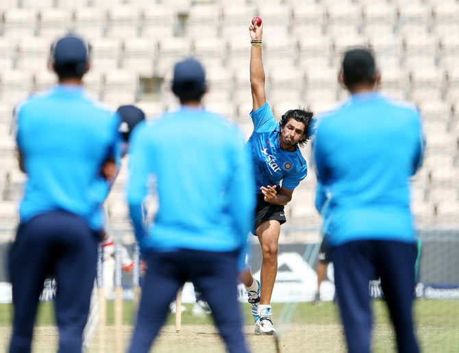 Ishant Sharma during an England nets session at Ageas Bowl on Sunday