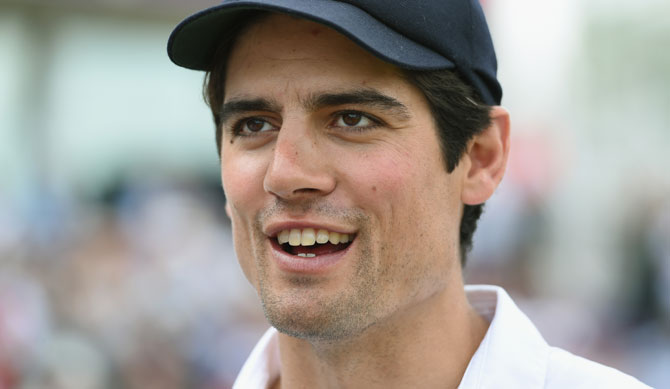 England captain Alastair Cook raises a smile after day five