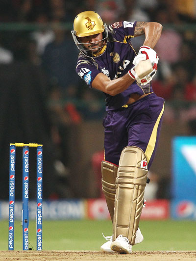 Kolkata's Manish Pandey in full flow.