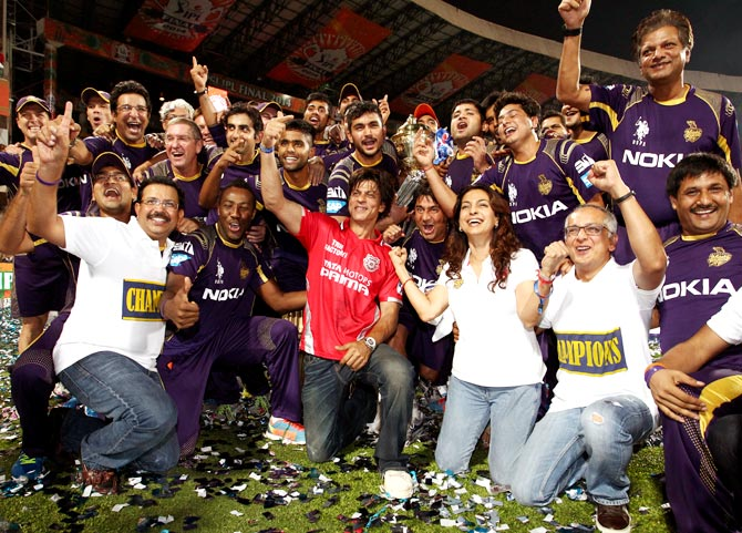 Kolkata Knight Riders celebrate IPL triumph