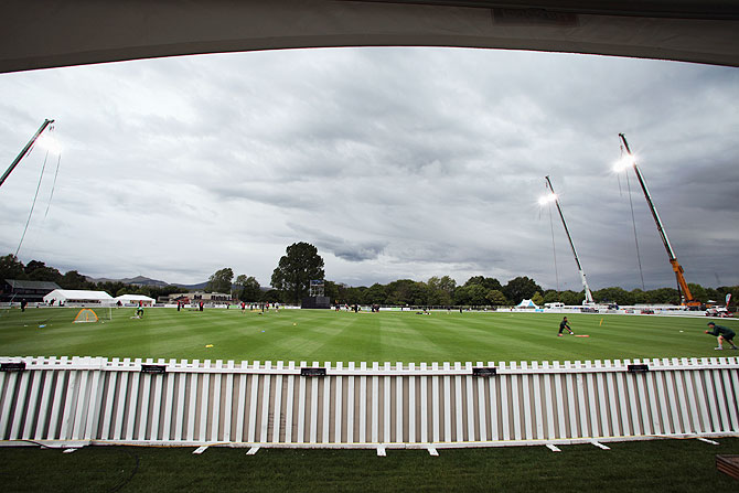 A general view of Hagley Oval in Christchurch