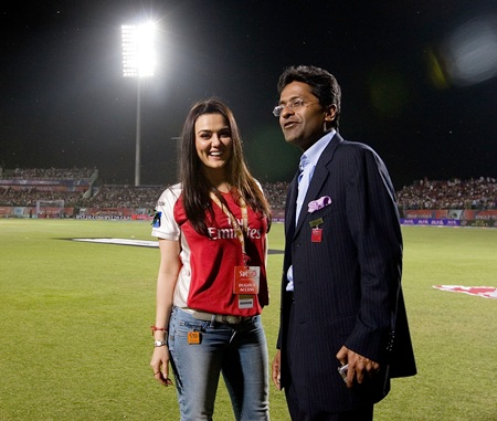 Lalit Modi with Preity Zinta