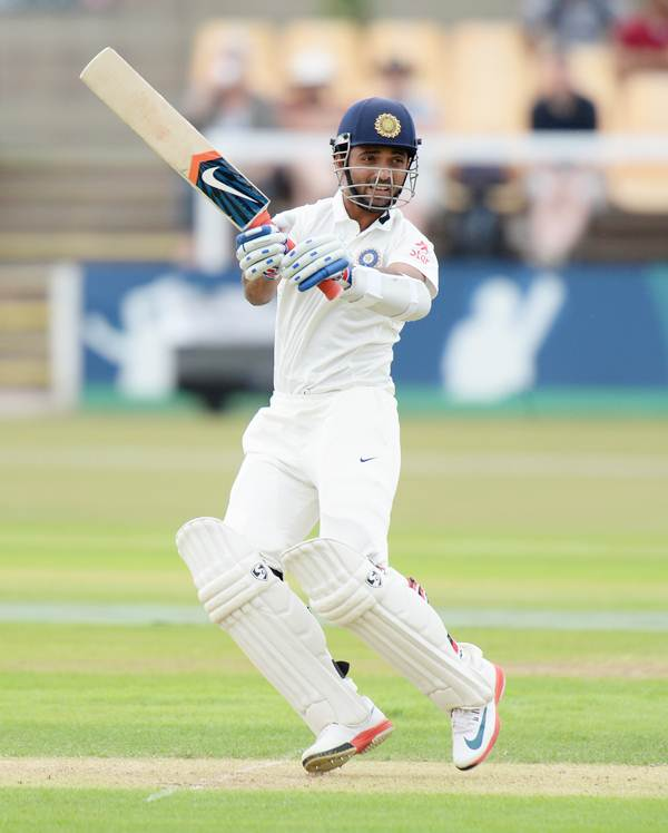 Ajinkya Rahane bats during Day 1 of the tour match