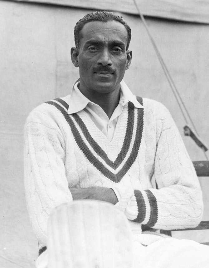 Cottari Kanakaiya Nayudu during the All-India tour of England in 1932