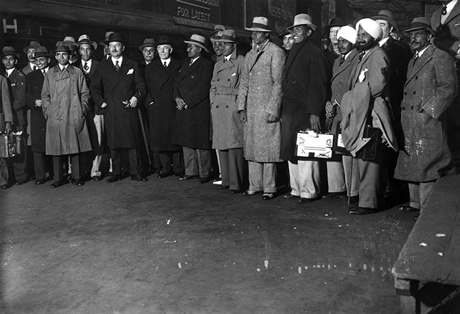 The Indian cricket team on arrival at Victoria station in London on April 16, 1932