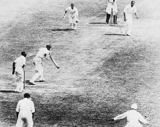 England captain Douglas Jardine bats against India at Lord's