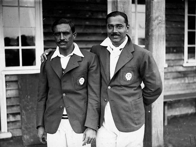 Ghulam Mahomed (left) and S H M Colah