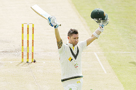 3rd Test: Gutsy century by Clarke powers Australia past 400