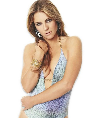 Model and bikini designer Elizabeth Hurley.